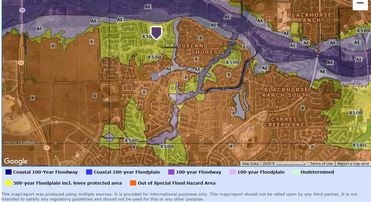 bridgeland flood map