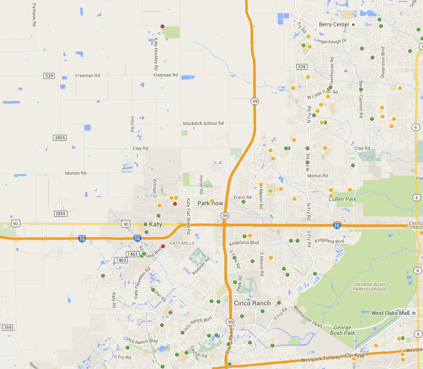 Katy Schools Map Overview