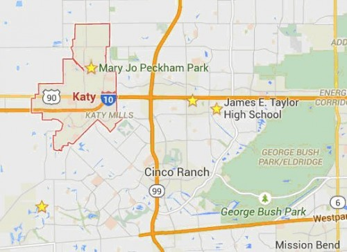katy incorporated map