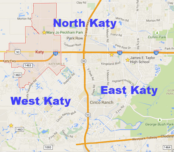 Map Of Texas Katy.Katy Tx
