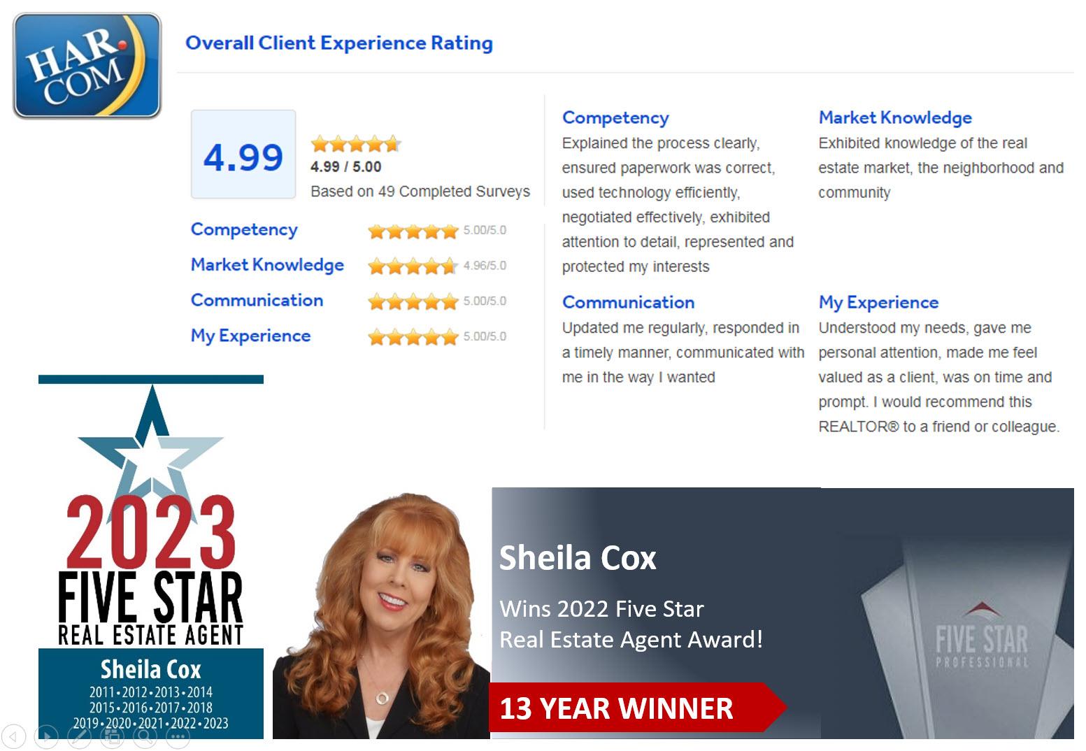 sheila cox realtor reviews