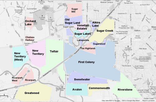 Sugar Land Tx Zip Code Map.Sugar Land Vs Katy Sugar Land Neighborhoods And Real Estate Guide