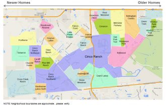 katy neighborhoods map